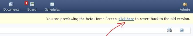 beta home screen