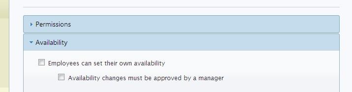 employee availability