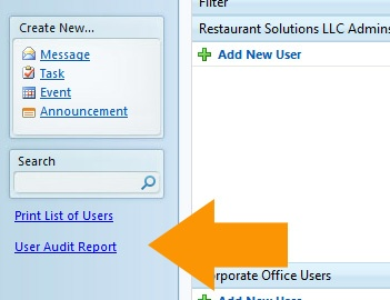 User Audit Report