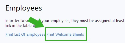 welcome sheets